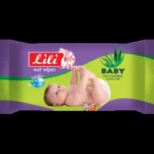 """Влажные салфетки Тм """"Lili"""" для детей с экстрактом алоэ вера, 60 шт."""