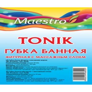 """Губка банная с массажным слоем ТМ """"Maestro"""" Tonik"""