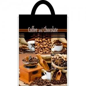 Пакет петля 25*30 Кофе и шоколад