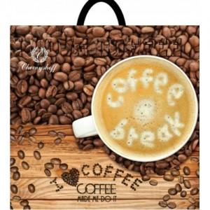 Пакет петля 38*34 Кофе