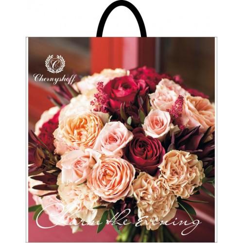 Пакет с петлевой ручкой 38*34 Букет роз