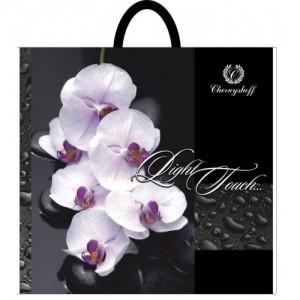 Пакет петля 38*34 Орхидея на черном