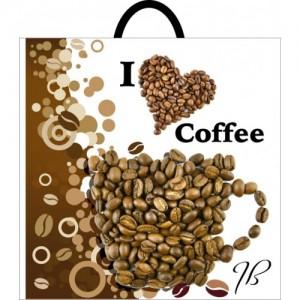 Пакет с петлевой ручкой 395*400 Кофе
