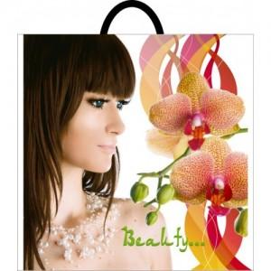 Пакет с петлевой ручкой 395*400 Девочка орхидея