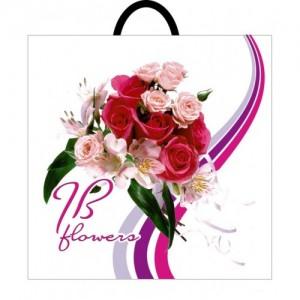 Пакет с петлевой ручкой 395*400 Букет роз