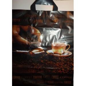 Пакет петля 38*43 Кофе