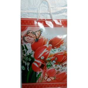 Подарочный пакет 24,8*40,5*9 Бабочки