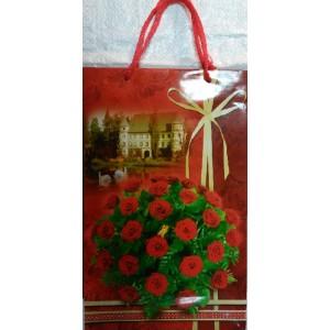 Подарочный пакет 16,5*26,5*7 Букет Роз