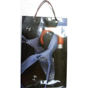 Подарочный пакет 24,8*40,5*9 Галстук и зонт