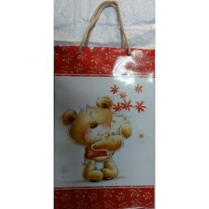 Подарочный пакет 16,5*26,5*7 Мишка