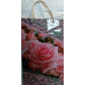 Подарочный пакет 16,5*26,5*7 Роза