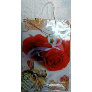 Подарочный пакет 24,8*40,5*9 Роза