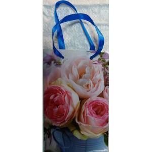 Подарочный пакет 11,5*17,5*5 Розы