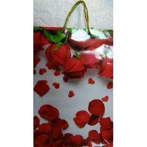 Подарочный пакет 24,8*40,5*9 Розы