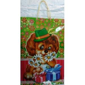 Подарочный пакет 24,8*40,5*9 Собачка