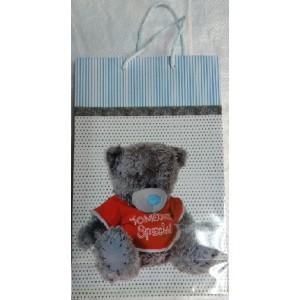 Подарочный пакет 16,5*26,5*7 Мишка новый