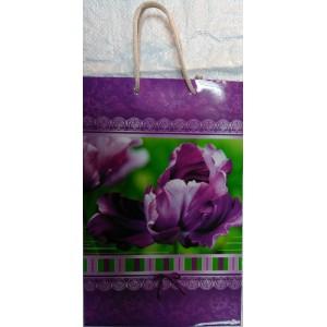 Подарочный пакет 16,5*26,5*7 Цветы