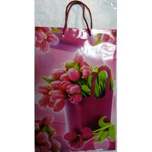Подарочный пакет 24,8*40,5*9 Тюльпаны
