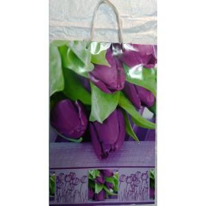 Подарочный пакет 24,8*40,5*9 Тюльпаны новые