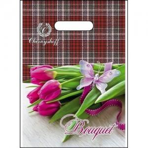 Пакет с прорезной ручкой 220*300 Тюльпан
