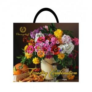 Пакет с пластиковой ручкой 36,5*33 Лесные цветы