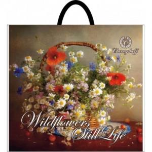 Пакет с пластиковой ручкой 36,5*33 Полевые Цветы