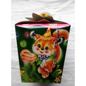 Новогодняя упаковка для конфет Белочка