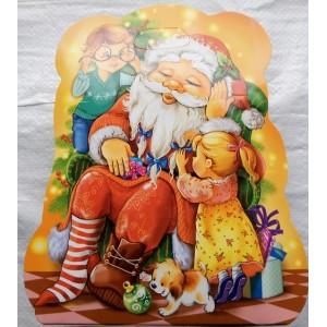 Новогодняя упаковка для конфет Санта Клаус