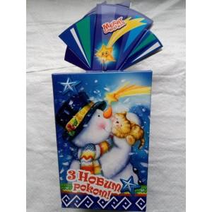 Новогодняя упаковка для конфет Снеговик